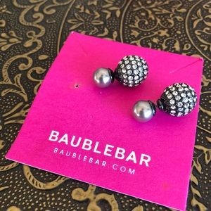 Baublebar Pave 360 Crystal Stone Stud Earrings